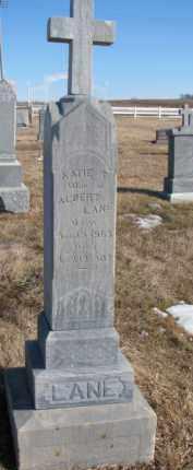 LANE, KATIE T. (STONE 2  OF 2) - Dixon County, Nebraska | KATIE T. (STONE 2  OF 2) LANE - Nebraska Gravestone Photos