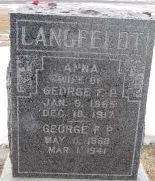LANGFELDT, ANNA - Dixon County, Nebraska | ANNA LANGFELDT - Nebraska Gravestone Photos