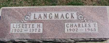 LANGMACK, CHARLES T. - Dixon County, Nebraska | CHARLES T. LANGMACK - Nebraska Gravestone Photos
