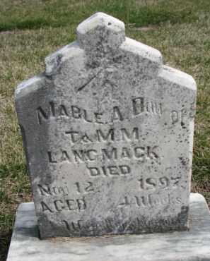 LANGMACK, MABLE A. - Dixon County, Nebraska | MABLE A. LANGMACK - Nebraska Gravestone Photos