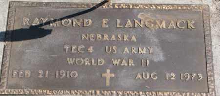 LANGMACK, RAYMOND E. (WW II MARKER) - Dixon County, Nebraska | RAYMOND E. (WW II MARKER) LANGMACK - Nebraska Gravestone Photos