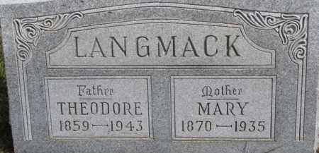 LANGMACK, THEODORE - Dixon County, Nebraska   THEODORE LANGMACK - Nebraska Gravestone Photos