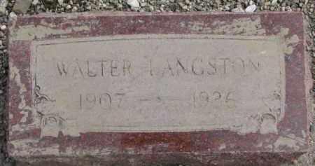 LANGSTON, WALTER - Dixon County, Nebraska | WALTER LANGSTON - Nebraska Gravestone Photos