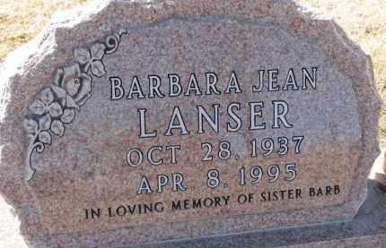 LANSER, BARBARA JEAN - Dixon County, Nebraska | BARBARA JEAN LANSER - Nebraska Gravestone Photos