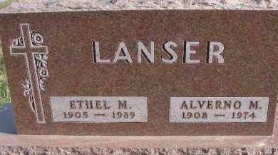 LANSER, ALVERNO M. - Dixon County, Nebraska   ALVERNO M. LANSER - Nebraska Gravestone Photos