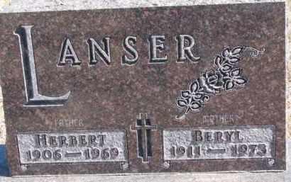 LANSER, HERBERT - Dixon County, Nebraska   HERBERT LANSER - Nebraska Gravestone Photos