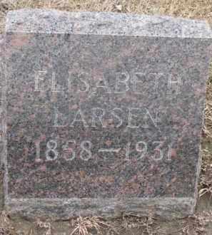 LARSEN, ELISABETH - Dixon County, Nebraska | ELISABETH LARSEN - Nebraska Gravestone Photos