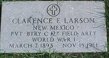 LARSON, CLARENCE E. - Dixon County, Nebraska | CLARENCE E. LARSON - Nebraska Gravestone Photos