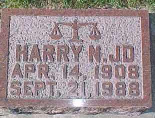 LARSON, HARRY N.  JD - Dixon County, Nebraska   HARRY N.  JD LARSON - Nebraska Gravestone Photos