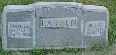 LARSON, JOHN E. - Dixon County, Nebraska | JOHN E. LARSON - Nebraska Gravestone Photos