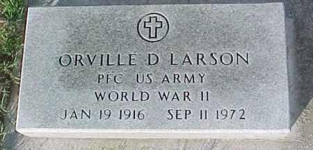 LARSON, ORVILLE D. (WW II MARKER) - Dixon County, Nebraska | ORVILLE D. (WW II MARKER) LARSON - Nebraska Gravestone Photos