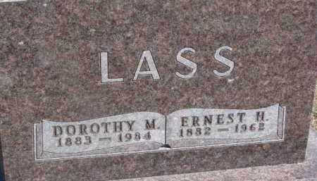 LASS, ERNEST H. - Dixon County, Nebraska   ERNEST H. LASS - Nebraska Gravestone Photos