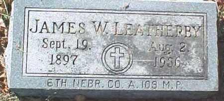 LEATHERBY, JAMES W. - Dixon County, Nebraska | JAMES W. LEATHERBY - Nebraska Gravestone Photos