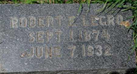 LEGRO, ROBERT E. - Dixon County, Nebraska | ROBERT E. LEGRO - Nebraska Gravestone Photos