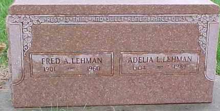 LEHMAN, FRED A. - Dixon County, Nebraska | FRED A. LEHMAN - Nebraska Gravestone Photos