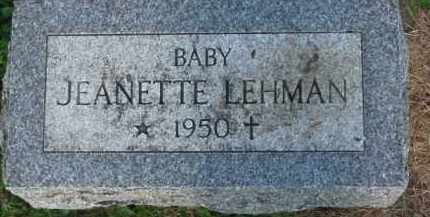 LEHMAN, JEANETTE - Dixon County, Nebraska   JEANETTE LEHMAN - Nebraska Gravestone Photos