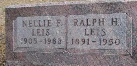 LEIS, RALPH H. - Dixon County, Nebraska   RALPH H. LEIS - Nebraska Gravestone Photos