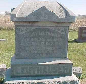 LEUTHAUSER, AUGUST - Dixon County, Nebraska | AUGUST LEUTHAUSER - Nebraska Gravestone Photos