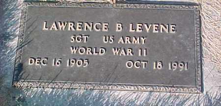 LEVENE, LAWRENCE B. (WW II MARKER) - Dixon County, Nebraska | LAWRENCE B. (WW II MARKER) LEVENE - Nebraska Gravestone Photos