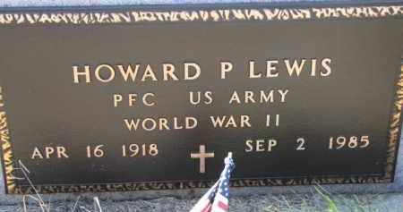 LEWIS, HOWARD P. (WW II MARKER) - Dixon County, Nebraska | HOWARD P. (WW II MARKER) LEWIS - Nebraska Gravestone Photos