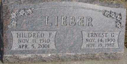 LIEBER, HILDRED F. - Dixon County, Nebraska   HILDRED F. LIEBER - Nebraska Gravestone Photos