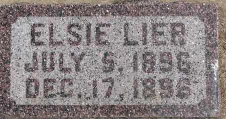 LIER, ELSIE - Dixon County, Nebraska   ELSIE LIER - Nebraska Gravestone Photos