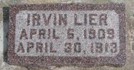 LIER, IRVIN - Dixon County, Nebraska | IRVIN LIER - Nebraska Gravestone Photos