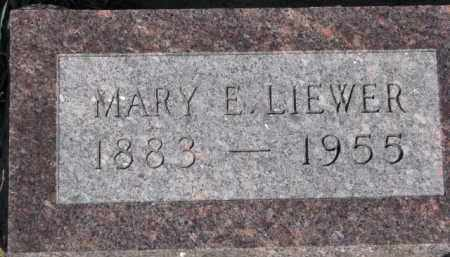 LIEWER, MARY E. - Dixon County, Nebraska | MARY E. LIEWER - Nebraska Gravestone Photos