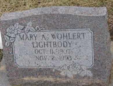 LIGHTBODY, MARY A. - Dixon County, Nebraska | MARY A. LIGHTBODY - Nebraska Gravestone Photos