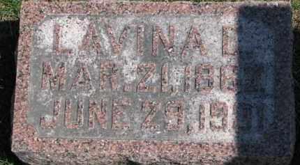 LINAFELTER, LAVINA E. - Dixon County, Nebraska | LAVINA E. LINAFELTER - Nebraska Gravestone Photos