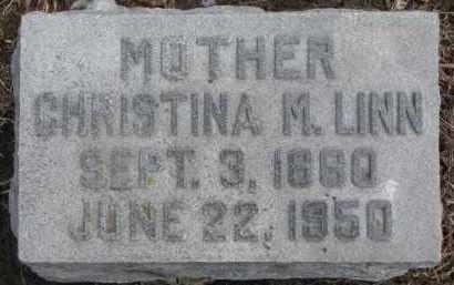 LINN, CHRISTINA M. - Dixon County, Nebraska | CHRISTINA M. LINN - Nebraska Gravestone Photos