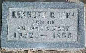 LIPP, KENNETH D. - Dixon County, Nebraska | KENNETH D. LIPP - Nebraska Gravestone Photos