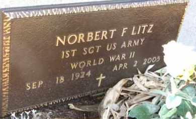LITZ, NORBERT (WWII MARKER) - Dixon County, Nebraska | NORBERT (WWII MARKER) LITZ - Nebraska Gravestone Photos
