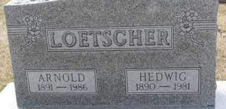 LOETSCHER, HEDWIG - Dixon County, Nebraska | HEDWIG LOETSCHER - Nebraska Gravestone Photos