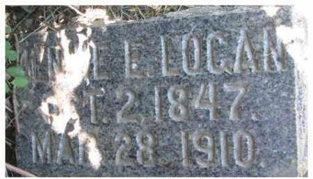 LOGAN, JENNIE L. - Dixon County, Nebraska | JENNIE L. LOGAN - Nebraska Gravestone Photos