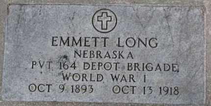 LONG, EMMETT - Dixon County, Nebraska | EMMETT LONG - Nebraska Gravestone Photos