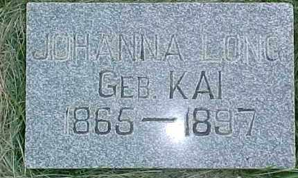 KAI LONG, JOHANNA - Dixon County, Nebraska | JOHANNA KAI LONG - Nebraska Gravestone Photos