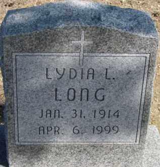LONG, LYDIA L. - Dixon County, Nebraska | LYDIA L. LONG - Nebraska Gravestone Photos