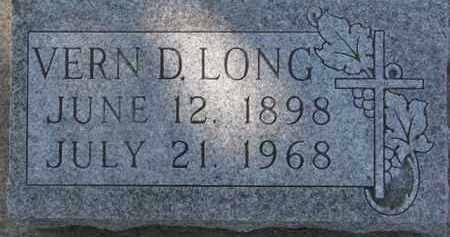 LONG, VERN D. - Dixon County, Nebraska   VERN D. LONG - Nebraska Gravestone Photos
