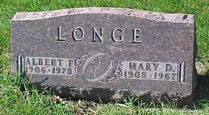 LONGE, MARY D. - Dixon County, Nebraska | MARY D. LONGE - Nebraska Gravestone Photos