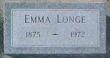 LONGE, EMMA - Dixon County, Nebraska   EMMA LONGE - Nebraska Gravestone Photos