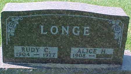 LONGE, RUDY C. - Dixon County, Nebraska | RUDY C. LONGE - Nebraska Gravestone Photos