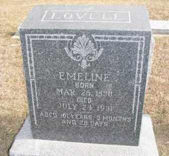 LOVELL, EMELINE - Dixon County, Nebraska | EMELINE LOVELL - Nebraska Gravestone Photos