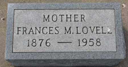 LOVELL, FRANCES M. - Dixon County, Nebraska   FRANCES M. LOVELL - Nebraska Gravestone Photos