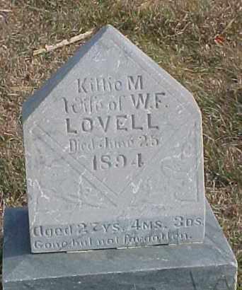 LOVELL, KILLIE M. - Dixon County, Nebraska | KILLIE M. LOVELL - Nebraska Gravestone Photos