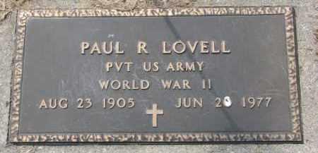 LOVELL, PAUL R. (WW II MARKER) - Dixon County, Nebraska | PAUL R. (WW II MARKER) LOVELL - Nebraska Gravestone Photos