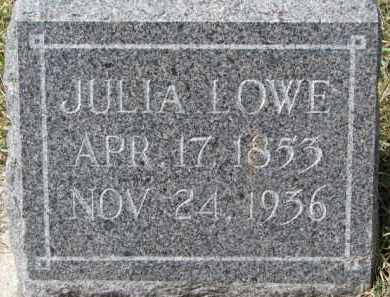 LOWE, JULIA - Dixon County, Nebraska | JULIA LOWE - Nebraska Gravestone Photos