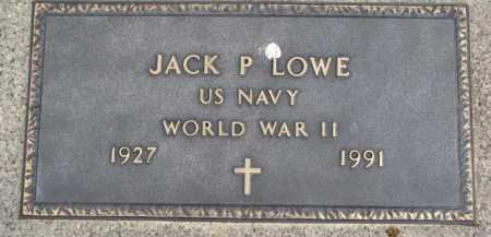 LOWE, JACK P. (WW II MARKER) - Dixon County, Nebraska | JACK P. (WW II MARKER) LOWE - Nebraska Gravestone Photos