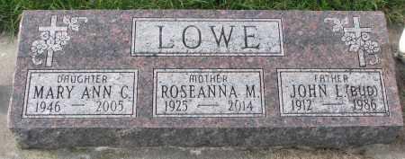 LOWE, ROSEANNA M. - Dixon County, Nebraska | ROSEANNA M. LOWE - Nebraska Gravestone Photos