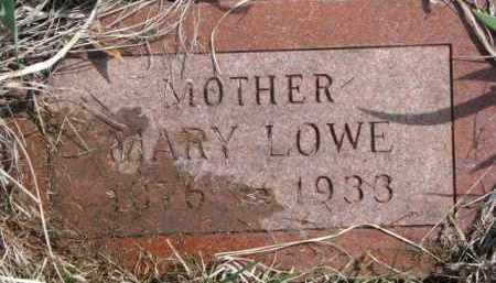 LOWE, MARY - Dixon County, Nebraska | MARY LOWE - Nebraska Gravestone Photos
